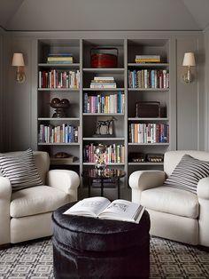 74 Super Cozy Master Sitting Room Ideas www.futuristarchi… 74 Super Cozy Master Sitting Room Ideas www. Home Library Design, Home Office Design, Design Desk, Library Ideas, Living Room Decor, Living Spaces, Living Rooms, Room Wall Decor, Bedroom Decor