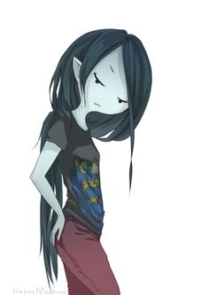 Marceline (HER SHIRT IS THE ONE SHE GAVE PB FOR HER BIRTHDAY!!)