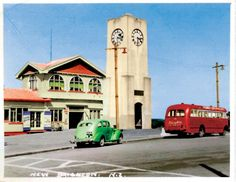 New Brighton. The library and pier are in this spot now. Happy Anniversary Clip Art, Christchurch New Zealand, New Brighton, School Shoes, South Island, Canterbury, Old Skool, Public Transport, What Is Like