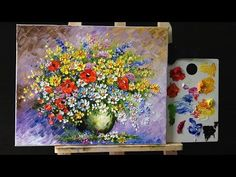 How to paint Flowers - Orchid #painting - YouTube