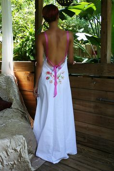 Princess Bride Lingerie Flower Cotton Nightgown by Sarafina Dreams