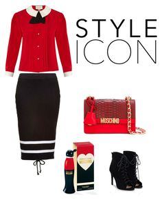 Untitled #148 by kallzouni on Polyvore featuring polyvore fashion style Gucci Puma JustFab Moschino clothing