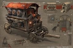 Cart/wagon concept art design