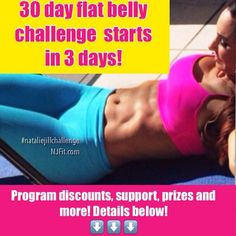 3 days until it starts!! 30 day #NatalieJillChallenge goes down! Take my flat belly workout CHALLENGE..... JUNE 1 get READY! For the BEST results, use coupon code ✳️flatbelly20✳️To save right now on any of my programs (including the nutrition programs like my 7 day jump start to do with the challenge. You can get the programs via the link in my bio or by going directly to NatalieJillFitness.com Use Coupon