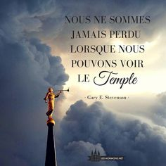 Nous ne sommes jamais perdu lorsque nous pouvons voir le Temple #ldstemple #moroni #saintsdesderniersjours #ldsquotes #lds #mormon #lesmormonsauquotidien #preseyring #henrybeyring