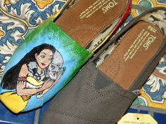Pocahontas Rainbow Painted TOMS Shoes