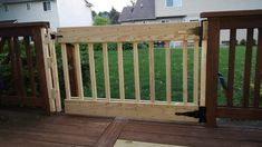 I made a gate for my deck. Fulton Street, Gate, Deck, Outdoor Structures, Portal, Front Porches, Decks, Decoration