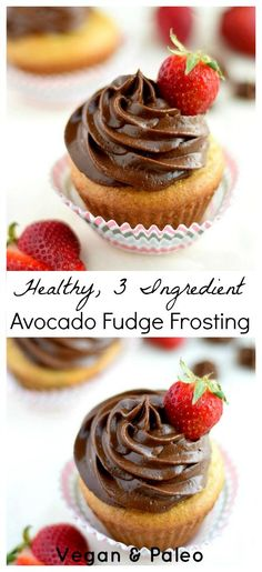 Healthy Avocado Fudge Frosting!