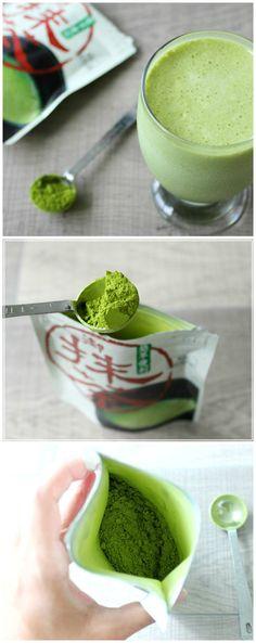 Matcha Green Tea Protein Shake | WholesomelyHomemade.com #matcha
