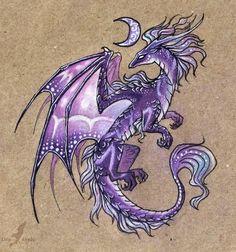 Эскиз фиолетового дракона