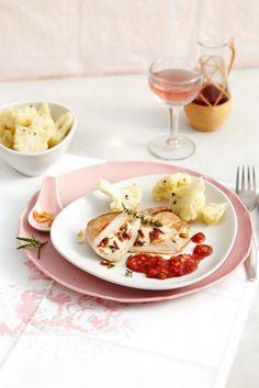 Kalbsschnitzel mit Mozzarella und Blumenkohl Foto © Thorsten Suedfels für ARD Buffet Magazin/burdafood.net
