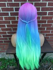 Inspiring Pastel Hair Color Ideas – My hair and beauty Cute Hair Colors, Pretty Hair Color, Beautiful Hair Color, Hair Dye Colors, Ombre Hair Color, Unicorn Hair Color, Ombre Wigs, Dye My Hair, Pastel Hair