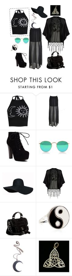 """chic pagan"" by stella-de-luna-fashion ❤ liked on Polyvore featuring Boohoo, Oasis, Proenza Schouler, Accessorize and Kill Star"
