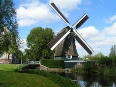 Polder mill De 1200 Roe, Amsterdam-Slotermeer, the Netherlands.