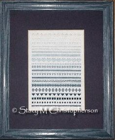 My finished Fade to Blue Sampler.  My own design.
