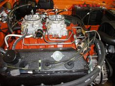 """HEMI!!  The """"Elephant"""" motor:  a 426 c.i.d. V8 with hemispherical-shaped combustion chambers and dual Carter AFB carburetors.  The zenith of American MUSCLE!!"""