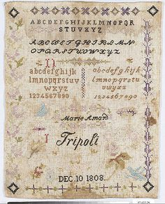 Sampler - Marie Amard 1808- French