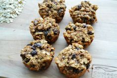 Cinnamon Raisin Oatmeal Muffins - only 5, all-natural ingredients go into this clean, AdvoCare friendly recipe!