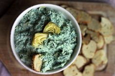 Don't be thrown off by the name, this healthy twist on the ever-popular spinach artichoke dip will have you more than double-dipping those pita chips.