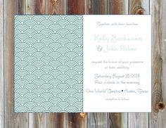 Digital Files  Art Deco Wedding Invitations, $35.00