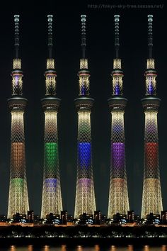 Tokyo sky tree lights