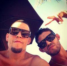 Nick And Nate Diaz, Kron Gracie, Diaz Brothers, Mma, Hot Guys, Studs, Mens Sunglasses, Sport, Tattoos