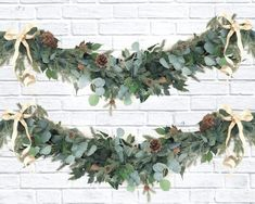 Celebrate this holiday season with our Eucalyptus Christmas Greenery Garland. Sophisticated and classy yet modern for any room in the house. Christmas Greenery Garland is hand assembled using high quality Faux Silver Dollar Eucalyptus leaves, Artificial Pine, Pinecones, and