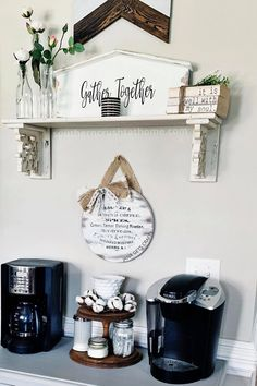 Cricut Print And Cut, Coffee Bars In Kitchen, Coffee Bar Signs, Farmhouse Signs, Diy Signs, Home Goods, Easy Diy, Diy Projects, Things To Come