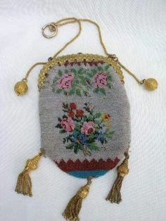 Beautiful Victorian Beadwork Evening Purse With Gilt Metal Mounts. | eBay