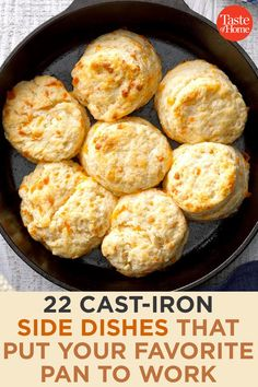 22 Cast-Iron Side Dishes That Put Your Favorite Pan to Work Dinner can only get tastier with these cozy cast-iron recipes. Cast Iron Skillet Cooking, Iron Skillet Recipes, Cast Iron Recipes, Skillet Meals, Cooking With Cast Iron, Cast Iron Bread, Cast Iron Dutch Oven, Dutch Oven Cooking, Cooking Recipes