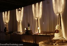Awesome blog about wall draping and ceiling draping.. tips and tricks - They even have training videos step by step how to do it- Event Pro Training