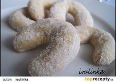 Vánoční cukroví - křehké vanilkové rohlíčky recept - TopRecepty.cz