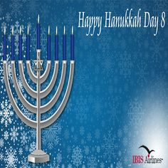 Tonight, marks the end of #Hanukkah, the eight-day Festival of Lights. Peace and light to all! #Hanukkah #IBISAirlines