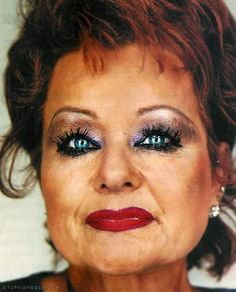 might actually attempt fake eyelashes for once in my life-doesn't look like this terrifying picture :)