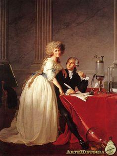 Sr. y Sra. Lavoisier  Autor: Jacques Louis David  Fecha: 1788 Museo: Metropolitan Museum of Art Características:  Estilo: Neoclasicismo Francés Material: Oleo sobre lienzo