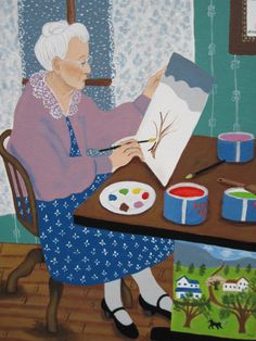 Grandma Moses by (c) Kristin Helberg 1996 National Portrait Gallery Smithsonian Institution
