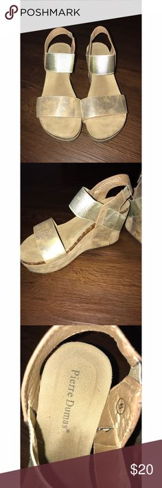 48a5c82eea21c Shop Women s Pierre Dumas Gold size 6 Wedges at a discounted price at  Poshmark.