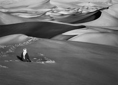 View Man Praying in the Sand Dunes in Maor, Tadrart, South of Djanet, Algeria by Sebastião Salgado at Sundaram Tagore Gallery in Hong Kong. Discover more artworks by Sebastião Salgado on Ocula now. Documentary Photographers, Great Photographers, Contemporary Photographers, Landscape Photographers, Fotojournalismus, Man Praying, Art Photography, Travel Photography, Photography Magazine