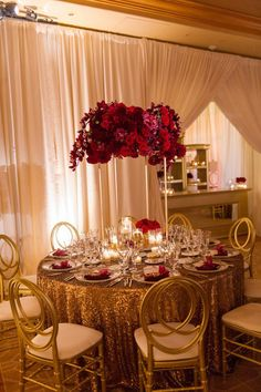 An Intertwined Event: Bold and Glamorous Wedding at Pelican Hill Resort Quince Decorations, Quinceanera Decorations, Wedding Reception Decorations, Wedding Themes, Wedding Colors, Wedding Events, Wedding Day, Red Wedding Receptions, Wedding Dresses