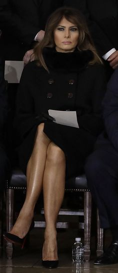 First Lady Melania Trump @ Reverend Billy Graham's Memorial Service Rev Billy Graham, First Lady Melania Trump, Our Girl, Mini Skirts, God, Elegant, How To Wear, Clothes, Beauty