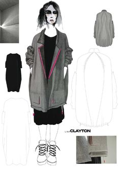 Fashion Sketchbook - fashion illustration; creative process; fashion portfolio // Lisa Clayton