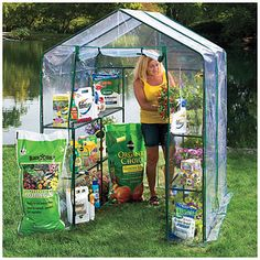 Village Green® Basic Walk-In Greenhouse with Shelves. Just purchased this greenhouse and will assemble it later today!