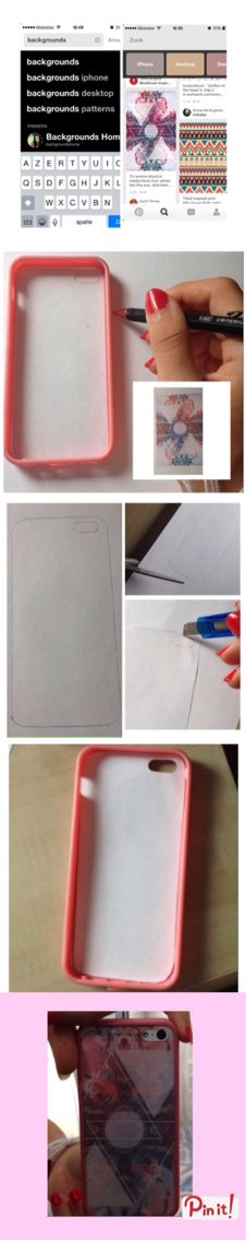 Make your own iPhone case✂️