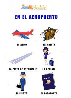 Hoy estamos en el aeropuerto. ¿Puedes ayudarnos a completar la lista? #español #Spanish
