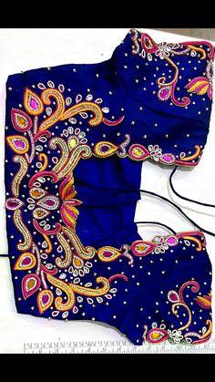 Pattu Saree Blouse Designs, Fancy Blouse Designs, Bridal Blouse Designs, Blouse Neck Designs, Blouse Designs Catalogue, Hand Work Blouse Design, Designer Blouse Patterns, Fashion Designers, Maggam Works