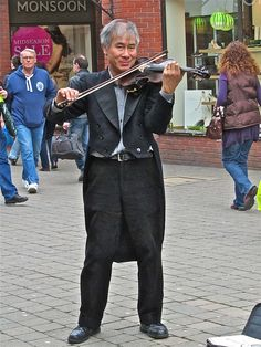 Classical Busking in town today.