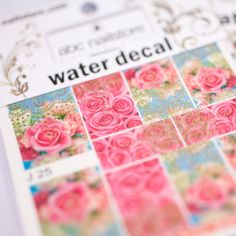 abc nailstore water decals #nails #naildesign #Nagelkunst #rosen