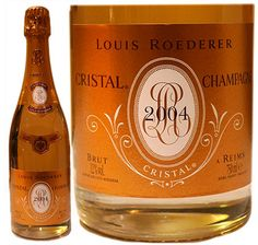 "Louis Roederer Cristal 2004 Vintage. ""This was our first edition celebration Champagne!"" says the Duke."