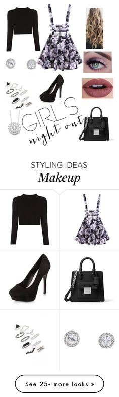 """""""Untitled #284"""" by ohsoomin on Polyvore featuring New Look, Topshop, Stila, Michael Kors and girlsnightout"""