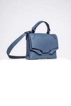Leather Bags Handmade, Italian Leather, Blue Denim